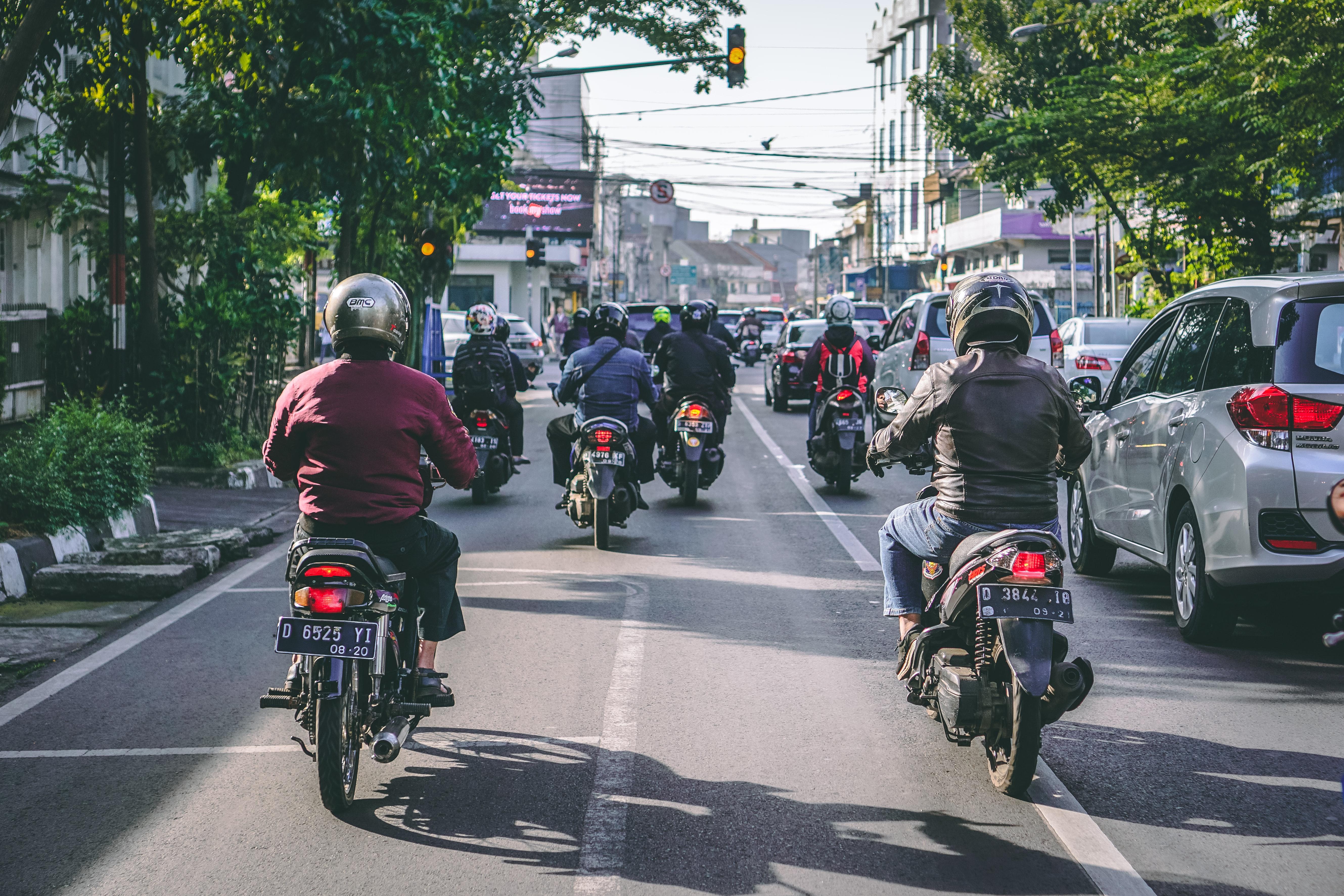 scooter rijden op bali